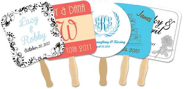 Five Wedding Hand Fan Examples