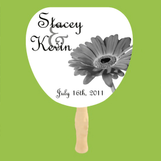 One Color Wedding Hand Fan Example