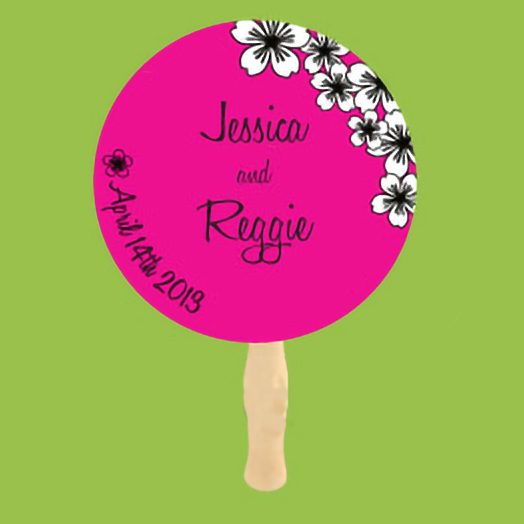 Two Color Wedding Fan Example