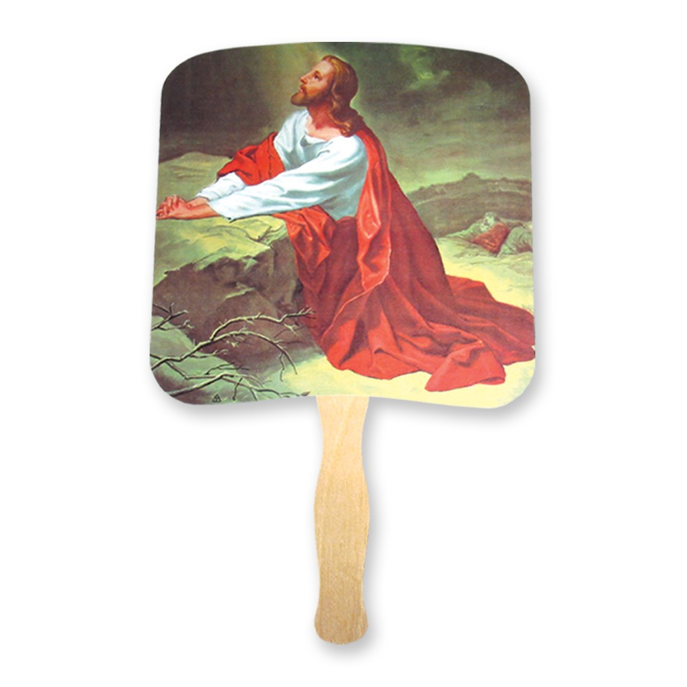 Christ in the garden of Gethsemane hand fan