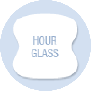 Hour Glass Shape Hand Fan