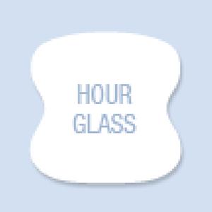Hour Glass Shape Hand Fan