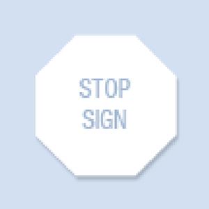 Stop Sign Shape Hand Fan