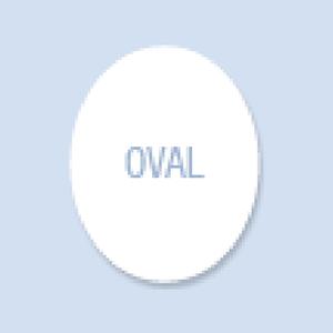 Oval Shape Hand Fan