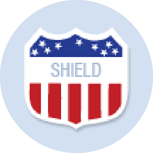 Shield Shape Hand Fan