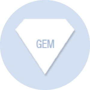 Gem Shape Hand Fan