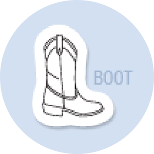Boot Shape Hand Fan