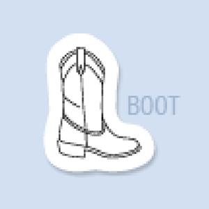 Boot Shape Hand Fan