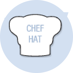 Chef Hat Shape Hand Fan